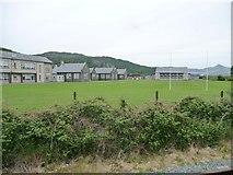 SH5639 : Rugby pitch at Ysgol Eifionydd, Porthmadog by Christine Johnstone