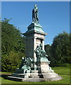SJ3165 : Gladstone statue, Hawarden. by Bill Harrison