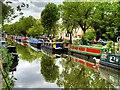 TQ2682 : Regent's Canal, Private Moorings next to  Blomfield Road by David Dixon