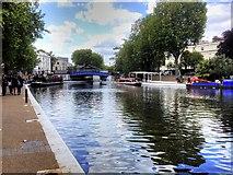 TQ2681 : Browning's Pool, Little Venice by David Dixon