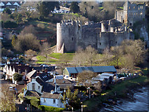ST5394 : Chepstow Castle from Tutshill by Roy Parkhouse
