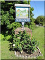 TM1083 : Shelfanger village sign by Adrian S Pye