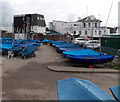 SZ3394 : Boats under blue covers, Lymington by Jaggery