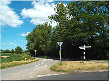 TQ6596 : Country lanes junction near Billericay by Malc McDonald