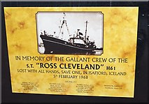 TA0827 : In memory of the gallant crew of the Ross Cleveland by Ian S