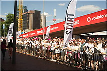 TQ1985 : View of the next round of Colour Runners lining up at the start line #6 by Robert Lamb