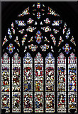 TQ2880 : Christ Church, Down Street, Mayfair - Stained glass window by John Salmon