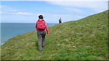 SH2035 : Walking the Wales Coast Path east of Traeth Penllech, Lleyn by Jeremy Bolwell