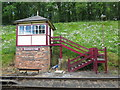 SK3706 : Shackerston Signalbox, The Battlefield Line by Keith Williams