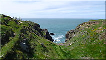 SH2136 : On the Wales Coast Path on Lleyn in May by Jeremy Bolwell