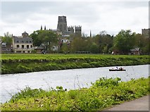 NZ2742 : Durham Cathedral, across the River Wear by Derek Voller