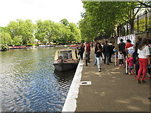 TQ2681 : Perseus -  narrowboat for trips from Little Venice by David Hawgood