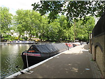TQ2681 : Bilster - narrowboat in Little Venice by David Hawgood