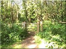 TQ1952 : Gate onto Headley Heath by Jonathan Hutchins