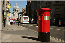 TQ3181 : Postbox in Fleet Street, London by Peter Trimming