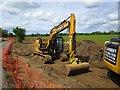SP3300 : CAT excavator near Tadpole Bridge, Oxon by P L Chadwick