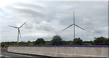 SP5772 : Wind Turbines by the M1 by Anthony Parkes