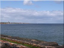 NZ3575 : Looking North up the coast from Tynemouth's North Pier by Derek Voller