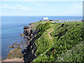 NT9364 : Berwickshire Coast Path and Eyemouth Holiday Park by Oliver Dixon