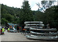 SO5616 : Canoes and traffic marshals, Symonds Yat East by Jaggery