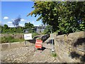 SJ9495 : Towpath closed by Gerald England