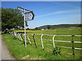 SJ4974 : Signpost and Cheshire Railings by Jeff Buck