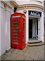 TL5338 : K6 telephone box with inverted lettering, Saffron Walden by Julian Osley