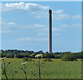 SP4816 : View towards the disused cement works chimney by Mat Fascione