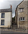 ST9387 : Steps up to a passage, Malmesbury by Jaggery