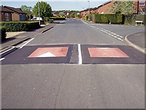 TF0920 : Speed bumps at Bourne, Lincolnshire by Rex Needle