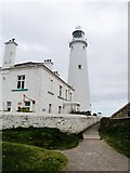 NZ3575 : St Mary's lighthouse, just North of Whitley Bay by Derek Voller