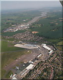 TQ8789 : Southend Airport and the River Roach: aerial 2015 by Chris