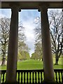 NZ1758 : The Avenue from between the Ionic columns of the Chapel at Gibside Hall by Derek Voller