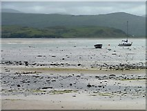 SH5637 : Mud and sand at low tide, Borth y Gest by Christine Johnstone