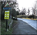 SO8404 : Rodborough Hill gradient sign, Stroud by Jaggery