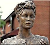 """J3373 : """"Mother Daughter Sister"""" sculpture, Sandy Row, Belfast - June 2015(2) by Albert Bridge"""