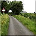SU0096 : Washpool Lane horse rider warning sign near Kemble by Jaggery