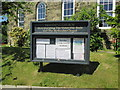 SE7863 : Leavening  church  C  of  E  and  Methodist  noticeboard by Martin Dawes