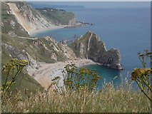 SY8080 : West Lulworth: view over Durdle Door and beyond by Chris Downer