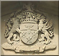 SD5073 : Peel family coat of arms, Hyning Priory by Karl and Ali