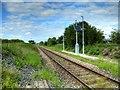 SD5022 : Single Track Railway Line at Cocker Bar by David Dixon