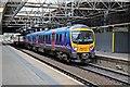 SJ8399 : First TransPennine Class 185, 185145, platform 4, Manchester Victoria railway station by El Pollock
