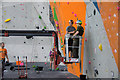 NT1270 : Working on the climbing walls at EICA, Ratho by Mike Pennington