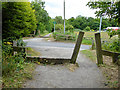 NZ3354 : Cycle route crossing of the road down to Cox Green by Oliver Dixon