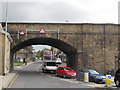 SE2234 : Railway bridge over Richardshaw Lane by Stephen Craven