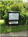 TM1383 : Burston Strike School Museum sign & Village Map by Adrian Cable