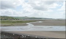 SH5738 : The Glaslyn estuary, looking south-east, near low tide by Christine Johnstone