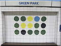 TQ2980 : Green Park tube station, Victoria Line, ceramic tiles by Mike Quinn