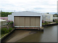 NZ3857 : Old shipbuilding shed by the Queen Alexandra Bridge by Oliver Dixon