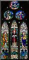 TF0919 : Stained glass window, Ss Peter & Paul church, Bourne by Julian P Guffogg